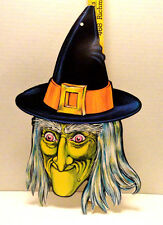 VINTAGE BEISTLE HALLOWEEN DIE CUT WITCH DECORATION HTF