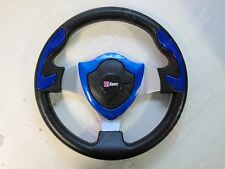 D1 SPEC FLAT 320mm PU LEATHER SHIELD STEERING WHEEL FIT OMP MOMO NARDI SPARCO BF