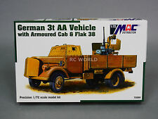 MAC Distribution GERMAN 3T AA TRUCK ARMOURED CAB & FLAK 38  Model Kit  #a4