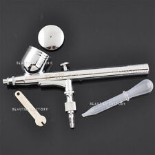 Dual Action Gravity Feed Airbrush Gun 0.3mm Spray Art Paint Kit Tattoo Nail #80