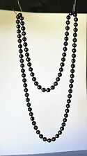 Hematite beads 8mm round 89 neads knotted great quality   NECKLACE