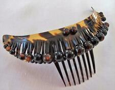 ANTIQUE EARLY 19th CENTURY FAUX TORTOISESHELL HINGED HAIR COMB DIADEM c1820