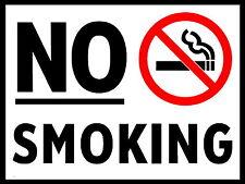 NO SMOKING metal Aluminium Safety Sign