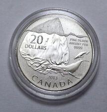 RARE 2013 Canada $20 Fine Silver Commemorative Coin, - Iceberg & Whale  !!!!