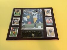 Troy Polamalu (Pittsburgh Steelers) 6 card plaque with custom engraving