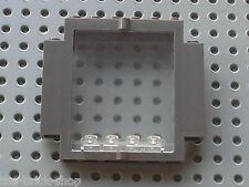 LEGO OldDkGray Door frame 30101 + Clear door 30102 / 1370 Raptor Rumble Studio