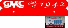 """GMC License Plate Topper """"Class Of"""" choice of 3 colors"""