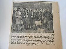La Troupe des Ballets Guenther à Paris Coupure de presse 1943