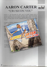 "AARON CARTER ""CRUSH ON YOU"" CD MAXI+SPANISH INFO SHEET / NEW KIDS ON THE BLOCK"