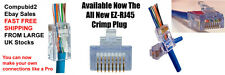 PACK 10 X NEW EZ RJ45 EZ-RJ45 CRIMP LAN NETWORK CONNECTORS FOR CAT5 CAT5e CAT6