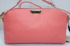Burberry Grain Check Small Chichester Clutch Pink Bag Women's Handbag NWT