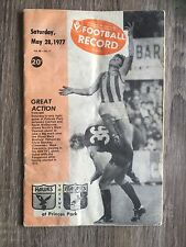 1977 VFL AFL football record Collingwood Magpies V Hawthorn Hawks May 28 1977