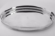 """Antique Vintage 1930s Silverplate Serving Gallery Handled Footed Tray 23-1/2"""""""