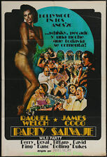 THE WILD PARTY MOVIE POSTER Folded 29.25x43.25 ARGENTINEAN 1975 RAQUEL WELSH