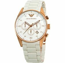 Emporio Armani AR5919 White Sportivo Chronograph Men's Wrist WATCH Imported