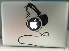 "Etiqueta engomada de DJ Macbook Pro Air 13"" 15"" 17"" Portátil Auriculares Audio"