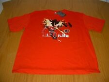 NEW WT NHL CALGARY FLAMES CCM RED T-SHIRT MENS XL MAJESTIC COTTON THE FLAME