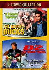 Disney Kids Hockey Movie Double Feature The Mighty Ducks & Sequel D2 DVD 2 Pack
