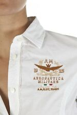 Camicia da donna del marchio Aeronautica Militare new modello in colore bianco