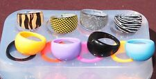 Multi-Clear-silicone Ring Molds 8 ps , size 7,8,9. Free USA Shipping. (012)