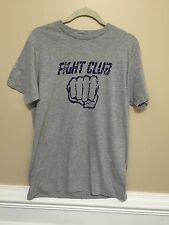 Men's Gray Short Sleeve Fight Club T-Shirt