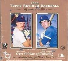 2005 Topps Retired Signature Baseball Hobby Box - 5 Uncirculated Autos Per Box
