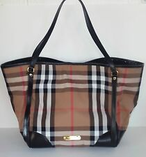 Burberry Bridle House Check Large Canterbury Tote Black