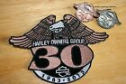 30th Anniversary 2 - Pins with Patch set HARLEY OWNERS GROUP 1983 - 2013 HOG HD