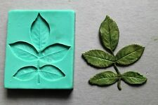 Silicone Mould ROSE BRANCH WITH LEAVES Sugarcraft Cake Decorating fondant fimo