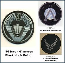 STARGATE SG-1 UNIFORM PATCH SET WITH HOOK BACKING - SG1scvset