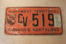 Vintage 1969 CANADA'S Northland License Plate CV 519 Rare Original Old