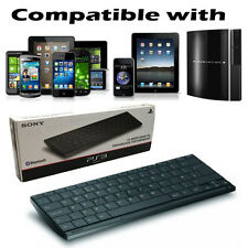 QZERTY Official Sony Wireless Slim Bluetooth Keyboard for PS2/3/4 & iPad iPhone