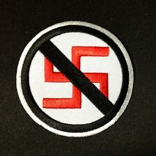 Anti Nazi Embroidered Patch Iron On, Decorate Accessories T shirt Vest Jacket