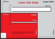 Postal MEASURING RULER ~ ~ ~ Royal Mail UK Size Stamps PIP Pricing in Proportion