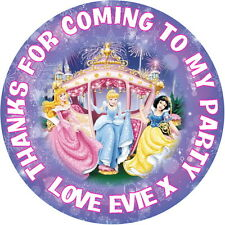 24 PERSONALISED GLOSS DISNEY PRINCESS COACH PARTY BAG, SWEET CONE STICKERS
