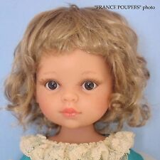 perruque blonde courte poupée moderne-tête19/20cm-Doll wig supplies sz7/8""