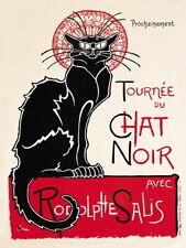 Chat Noir French Schwarze Katze Shabby Chic Kunst Deko Küche,Klein Metall/