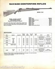 1991 SAVAGE Model 110-E Bolt Action Centerfire RIFLE AD