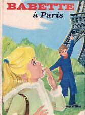 LIVRE ROUGE ET BLEUE--BABETTE A PARIS--JEAN SIDOBRE