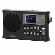 Sangean Rechargeable Portable WiFi Internet Radio-Black WFR-28