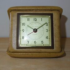 Vintage - New Haven Travel Alarm Clock Alarm Works Clock Ticks Doesn't Keep Time
