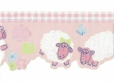 Counting Sheep for Sweet Baby Girls / Lamb Wallpaper Border ZW74520DC