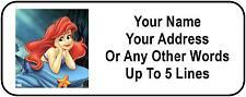 30 Ariel Little Mermaid Personalized Address Labels