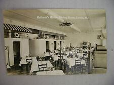 VINTAGE ADV RPPC HEILMAN'S MARINE DINING ROOM IN LORAIN OHIO UNUSED 1950'S