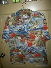 Vintage Good Vibes Tropical Hawaiian Button Front Shirt Size Large