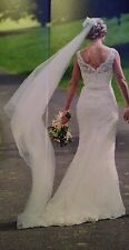 Stunning JUSTIN ALEXANDER 8530 Ivory Wedding Dress. Immaculate Condition Size 10