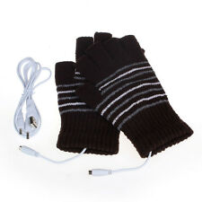 New 5V USB Powered Heating Heated Winter Hand Warmer Gloves Washable Cheap W
