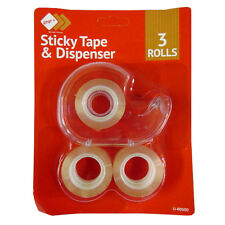 19mm Tape and Dispenser - 3 Rolls of Tape Included – by Wrap It