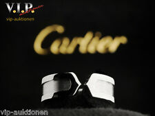 CARTIER DOPPEL-C-LOGO BAGUE RING WEIßGOLD 18K/750 WHITE GOLD Gr.51 +ORIGINAL BOX
