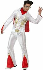 Costume Elvis PRESLEY rockeur M/L Déguisement Adulte Homme Disco Rock Star film